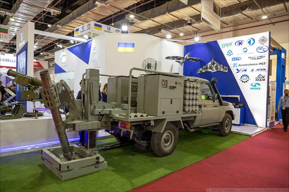 Укроборонсервіс представив новий мінометний комплекс на базі позашляховика